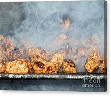 Fast Food Canvas Print - Smoky Barbecue by Sinisa Botas