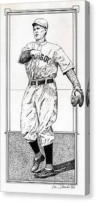 Boston Red Sox Canvas Print - Smoky Joe Wood by Ira Shander