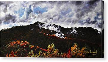 Smoky Mountain Angel Hair Canvas Print by Craig T Burgwardt