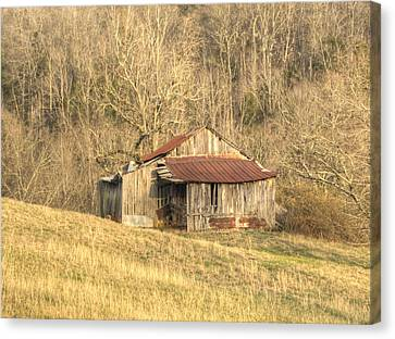Smoky Mountain Barn 11 Canvas Print by Douglas Barnett