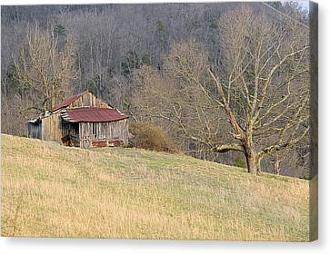 Smoky Mountain Barn 5 Canvas Print by Douglas Barnett