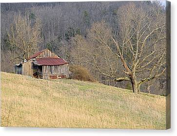 Smoky Mountain Barn 9 Canvas Print by Douglas Barnett