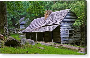 Smoky Mountain Cabins Canvas Print by Frozen in Time Fine Art Photography