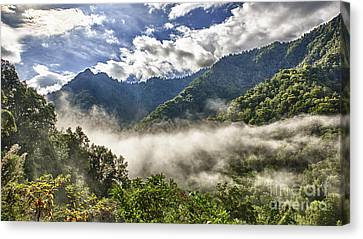 Smoky Mountain Chimney Tops Canvas Print