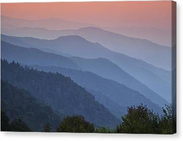 Smoky Mountain Morning Canvas Print by Andrew Soundarajan