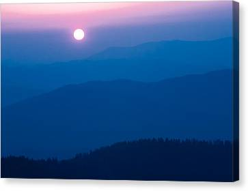 Canvas Print featuring the photograph Smoky Mountain Sunrise by Jay Stockhaus