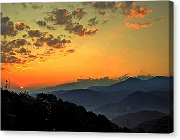 Smoky Mountain Sunrise Canvas Print