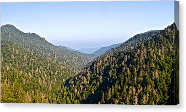 Marvelous View Canvas Print - Smoky Mountain View by Frozen in Time Fine Art Photography