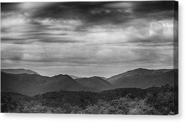 Smoky Mountains In Bw Canvas Print