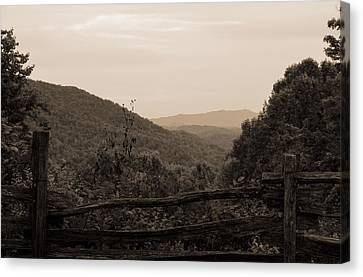 Smoky Mountains Lookout Point Canvas Print by Dan Sproul