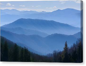Smoky Mountains Canvas Print by Melinda Fawver