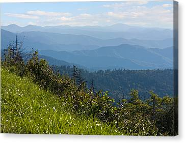 Smoky Mountains View Canvas Print by Melinda Fawver