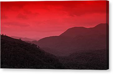 Smoky Mountians Red Canvas Print