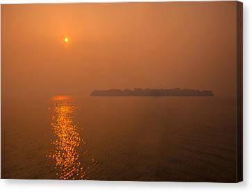 Smoky Sunrise Canvas Print by Dan Vidal