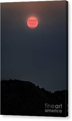Smoky Sunrise Canvas Print by Mitch Shindelbower