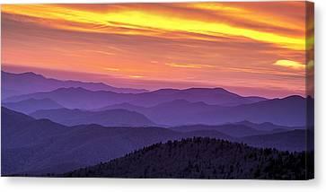Smoky Sunset Panorama Canvas Print by Andrew Soundarajan