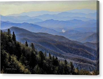 Smoky Vista Canvas Print by Kenny Francis