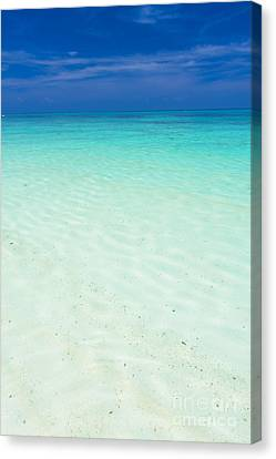 Smooth Clear Sea Canvas Print
