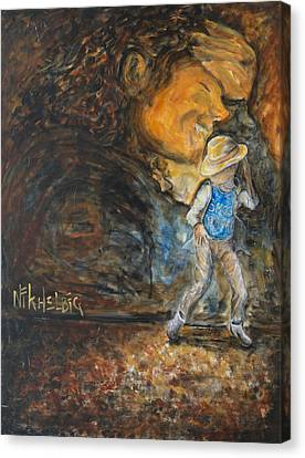 Smooth Criminal Mj Canvas Print by Nik Helbig