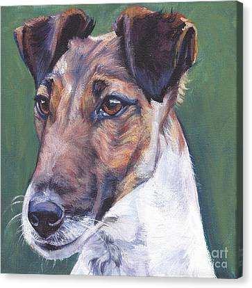 Fox Terrier Canvas Print - Smooth Fox Terrier by Lee Ann Shepard