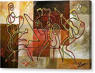 Avant Garde Jazz Canvas Print - Smooth Jazz by Leon Zernitsky