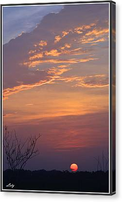 Smooth Sunset Canvas Print by Leticia Latocki