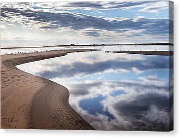 Smooth Water Reflections Canvas Print by Bill Wakeley