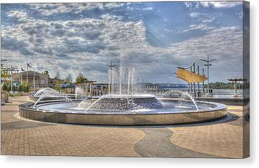 Canvas Print featuring the photograph Smothers Park Fountains #1 by Wendell Thompson