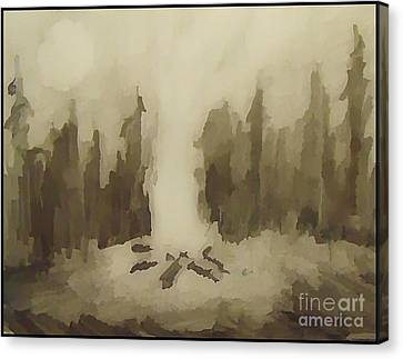 Smouldering Canvas Print by John Malone
