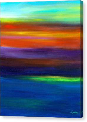 Smudged Sunset Canvas Print by Kristin Whitney