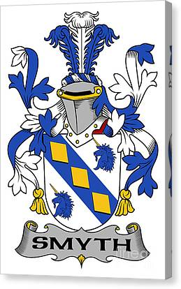 Smyth Coat Of Arms Irish Canvas Print