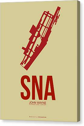 Sna Orange County Airport Poster 2 Canvas Print by Naxart Studio