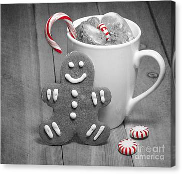 Snack For Santa Canvas Print by Juli Scalzi