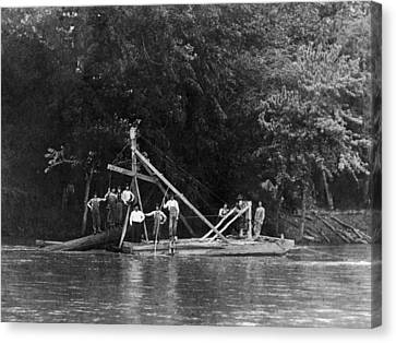 Snag Boat, C1910 Canvas Print
