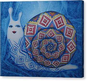 Snail Canvas Print by Khromykh Natalia