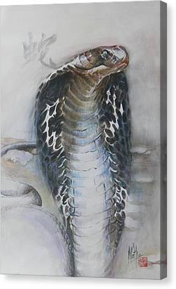 Canvas Print featuring the painting Snake by Alan Kirkland-Roath