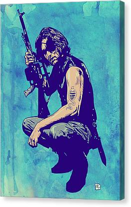 Fiction Canvas Print - Snake Plissken by Giuseppe Cristiano