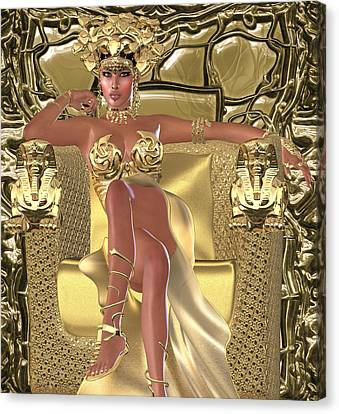 Snake Queen Canvas Print by Timothy Kurtis