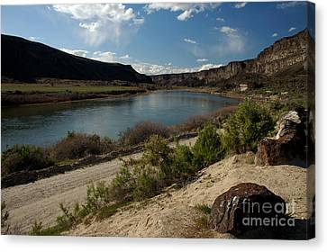 715p Snake River Birds Of Prey Area Canvas Print by NightVisions
