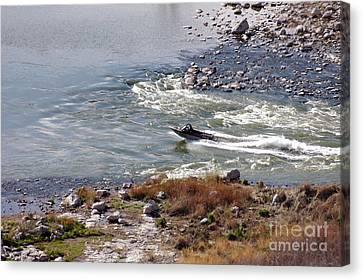406p Snake River Boating Canvas Print