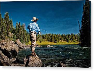 Snake River Cast Canvas Print by Ron White