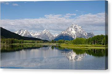 Snake River In Grand Teton  Canvas Print by Gary Wightman