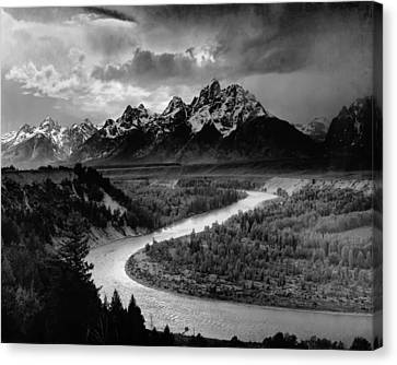 Snake River In The Tetons - 1930s Canvas Print