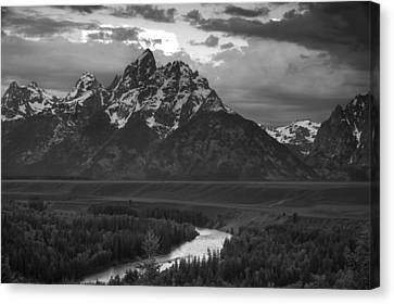 Snake River In The Tetons Canvas Print by Andrew Soundarajan