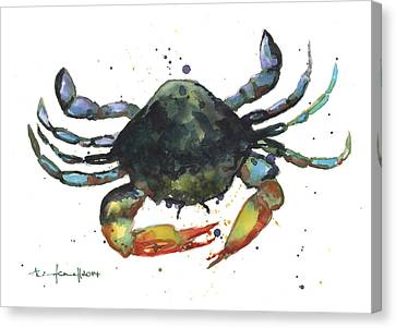 Snappy Crab Canvas Print by Alison Fennell