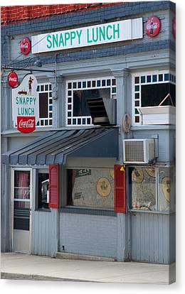 Snappy Lunch Mt. Airy Nc Canvas Print by Bob Pardue