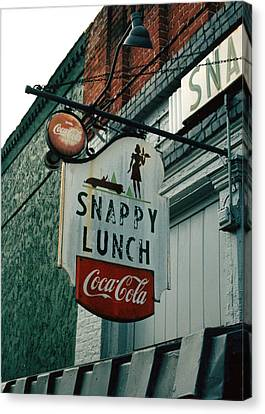 Snappy's Canvas Print by Steve Godleski