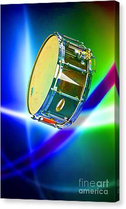 Snare Drum For Drum Set Painting In Color 3239.02 Canvas Print by M K  Miller
