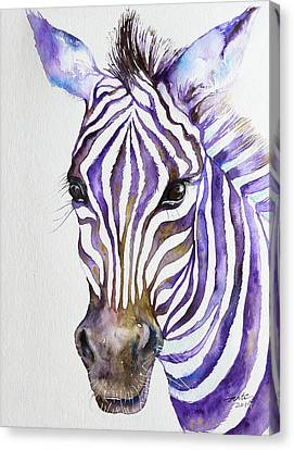 Snazzy_ Purple Stripes Canvas Print