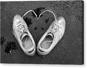 Sneaker Heart Canvas Print by Pat Bourque